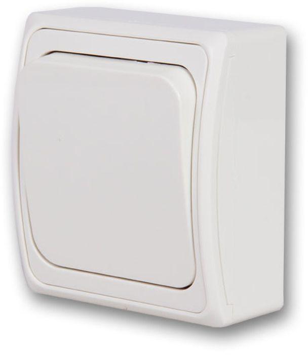 Выключатель Duwi Дельта, одноклавишный, для наружной проводки, цвет: бежевый цена