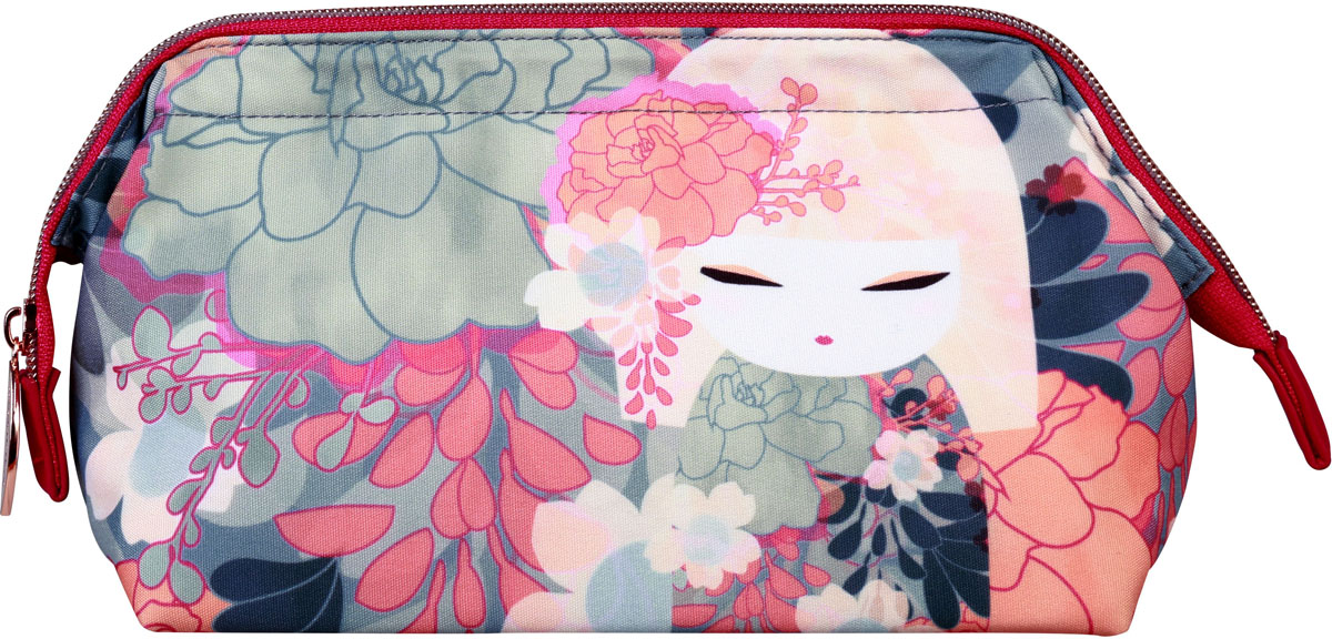 Косметичка женская Kimmidoll Чика, цвет: серый. KF1130 косметичка женская kimmidoll цвет розовый kf1193