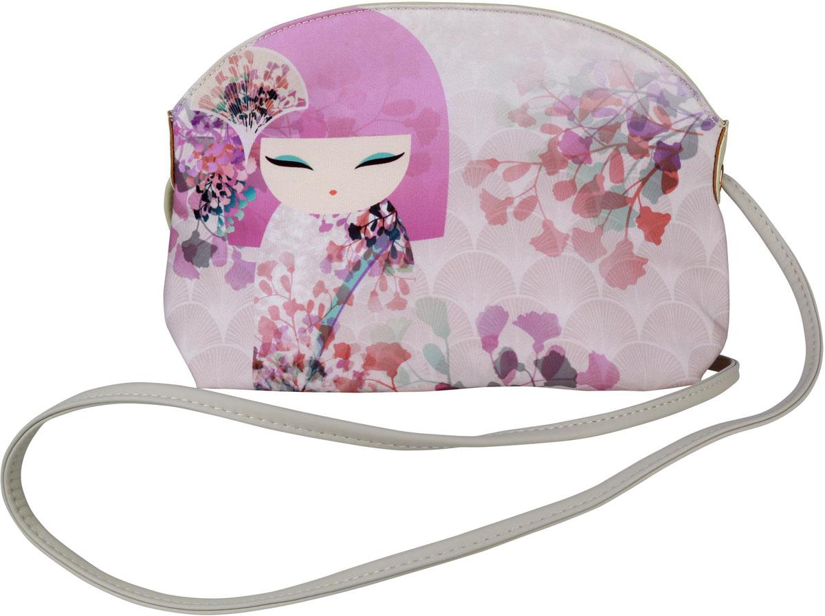 Сумка женская Kimmidoll Макото, цвет: белый, розовый. KF1136 косметичка женская kimmidoll цвет розовый kf1193