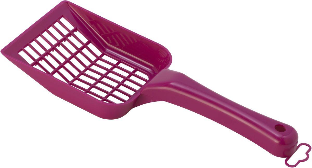 """Совок для кошачьего туалета Moderna """"Scoopy"""", цвет: ярко-розовый, 10 х 26 см"""
