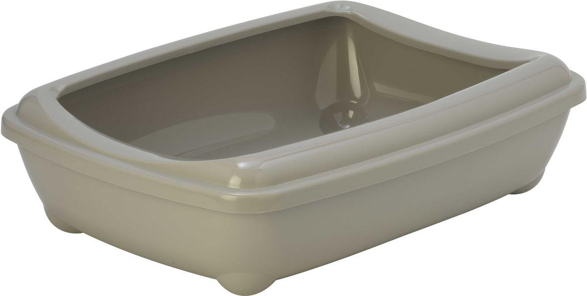 Туалет для кошек Moderna Arist-O-Tray, открытый, цвет: светло-серый, 38 х 50 х 14 см Уцененный товар (№4) кошачий туалет iris tft495
