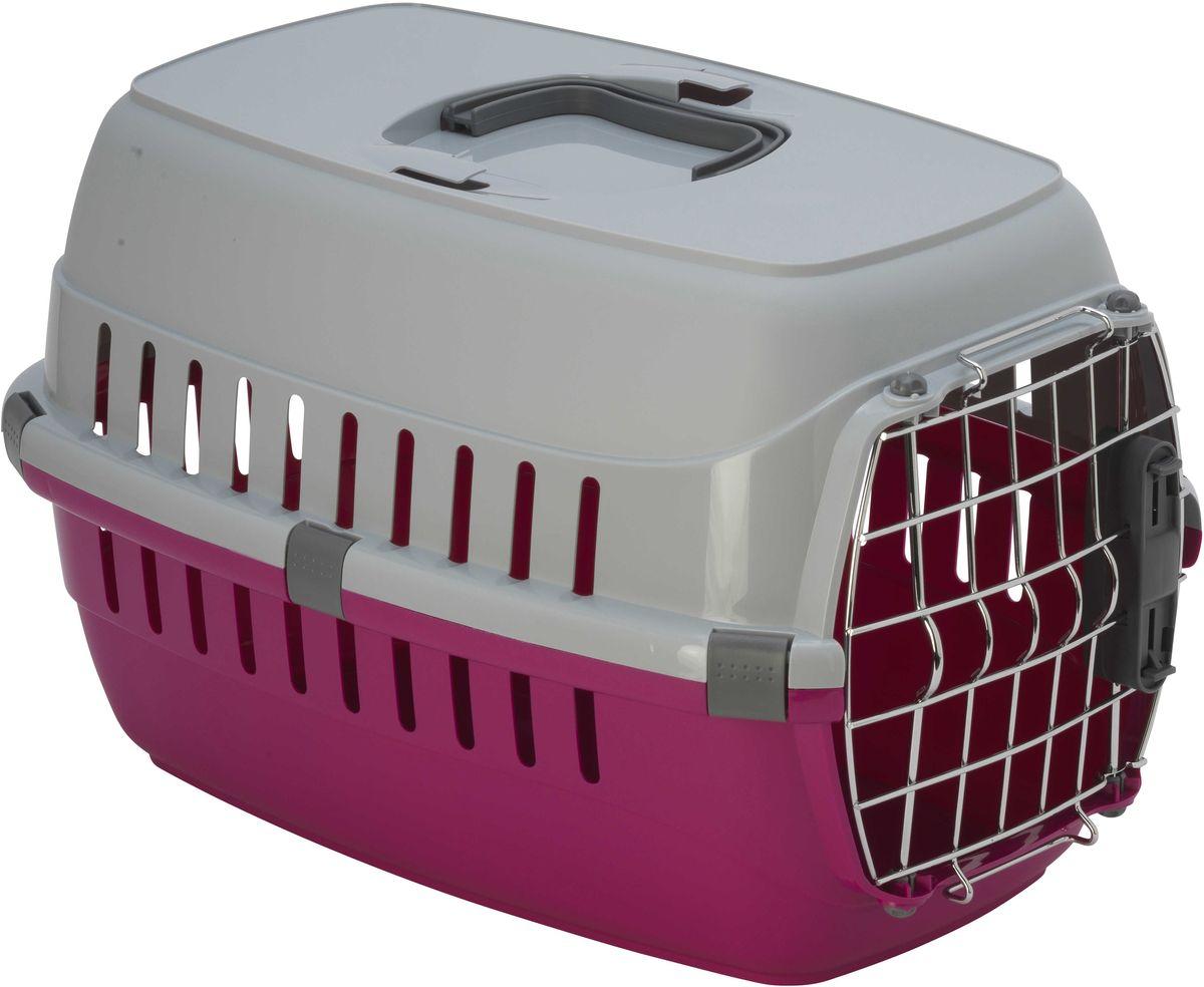 Переноска для животных Moderna Roadrunner 1, авиаперевозок, замок IATA, цвет: ярко-розовый, 31 х 51 34 см Уцененный товар (№3)
