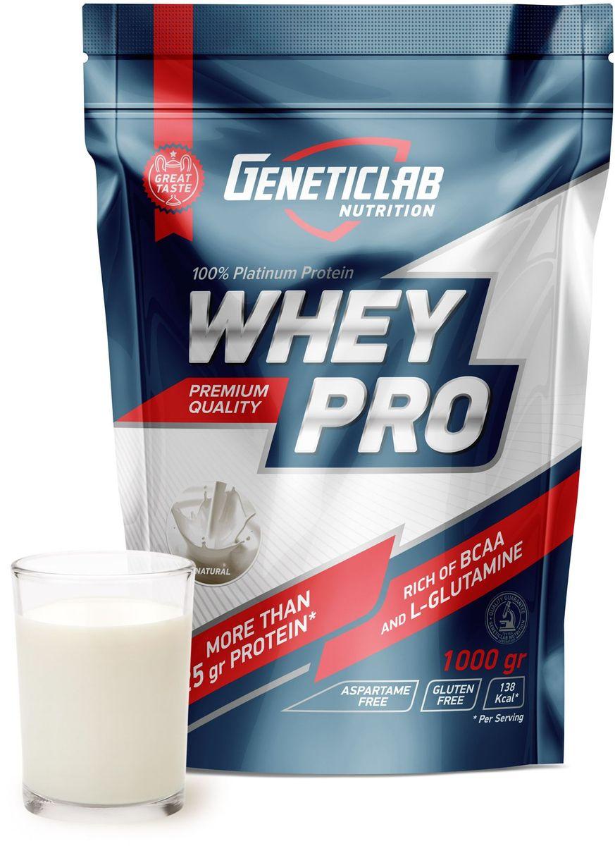 Протеин сывороточный Geneticlab Whey Pro, без вкуса, 1 кг протеин сывороточный red star labs beowulf whey pro клубничный десерт 1 8 кг