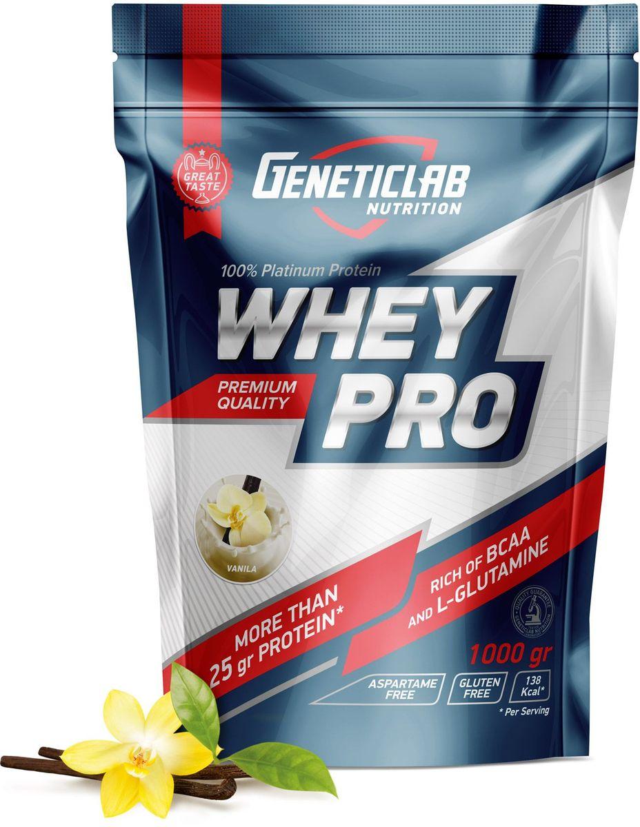 Протеин сывороточный Geneticlab Nutrition Whey Pro, ваниль, 1 кг протеин сывороточный red star labs beowulf whey pro клубничный десерт 1 8 кг