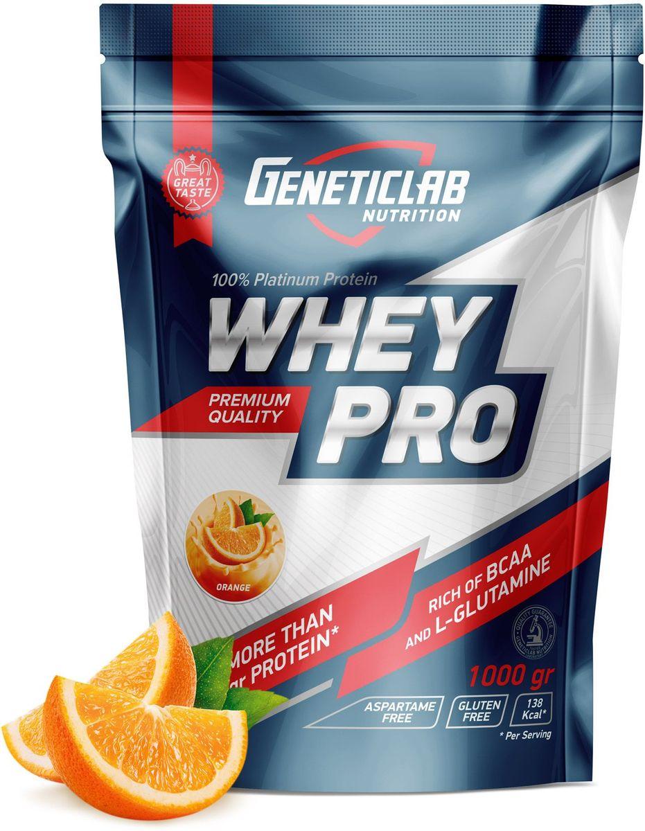 Протеин сывороточный Geneticlab Whey Pro, апельсин, 1 кг протеин сывороточный red star labs beowulf whey pro клубничный десерт 1 8 кг