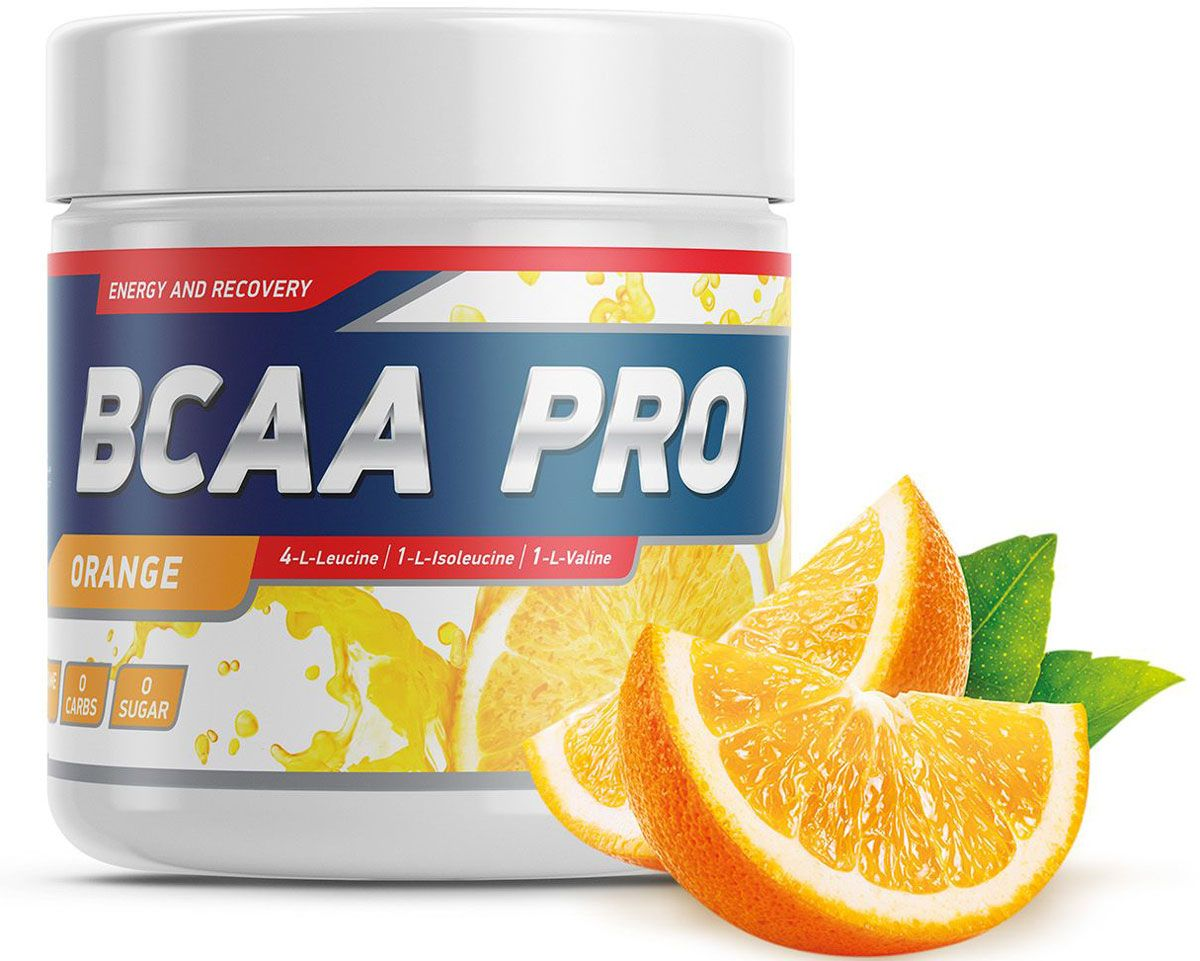 Аминокислоты Geneticlab BCAA Pro, апельсин, 250 г аминокислоты bcaa geneticlab bcaa powder без вкуса 200 г