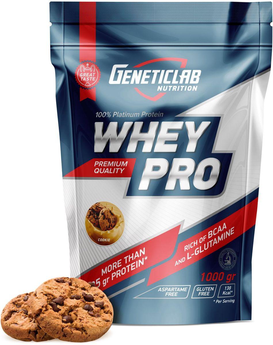 Протеин сывороточный Geneticlab Nutrition Whey Pro, печенье, 1 кг протеин сывороточный red star labs beowulf whey pro клубничный десерт 1 8 кг