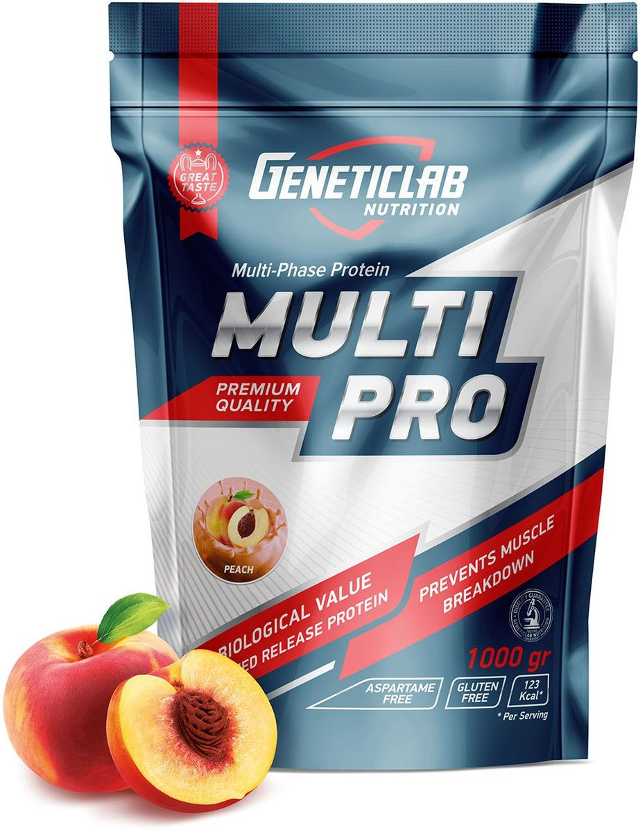"""Протеин Geneticlab """"Multi Pro"""", персик, 1 кг"""
