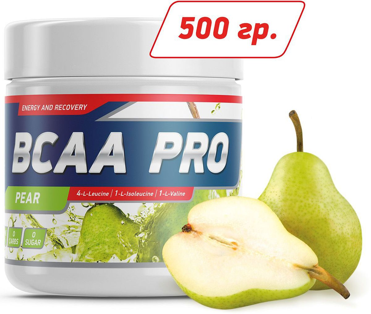 Аминокислоты Geneticlab BCAA Pro, груша, 500 г аминокислоты bcaa geneticlab bcaa powder без вкуса 200 г