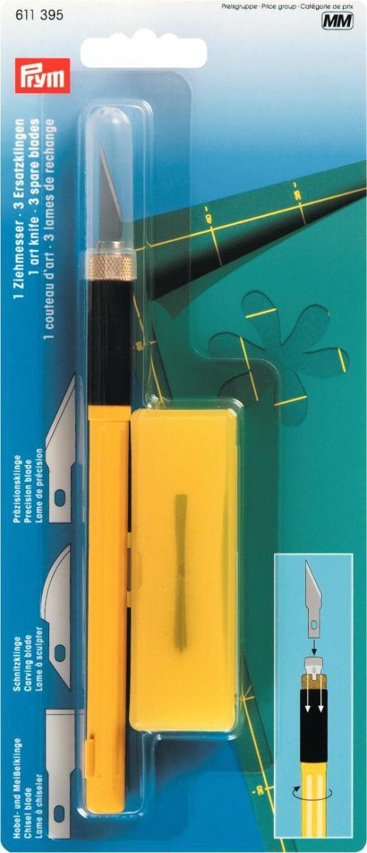 Нож для рукоделия Prym, с защитным колпачком, макетный кейс для рукоделия prym цвет коричневый