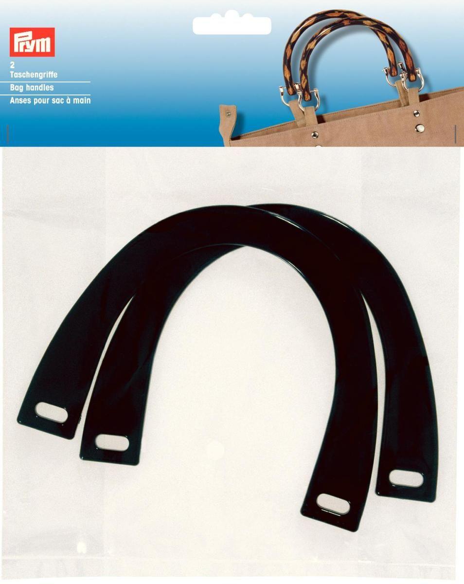 """Ручка для сумки Prym """"Мерелин"""", 145 х 110 мм, цвет: черный, 2 шт"""