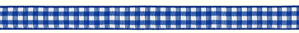 Лента декоративная Prym Клетка, цвет: белый, синий, 10 мм х 4 м лента самоклеющаяся prym двухсторонняя цвет прозрачный 6 мм 9 м