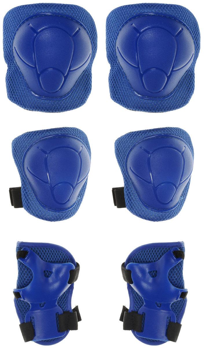 Комплект защиты Action, для катания на роликах, цвет: синий. Размер M. ZS-100 цена