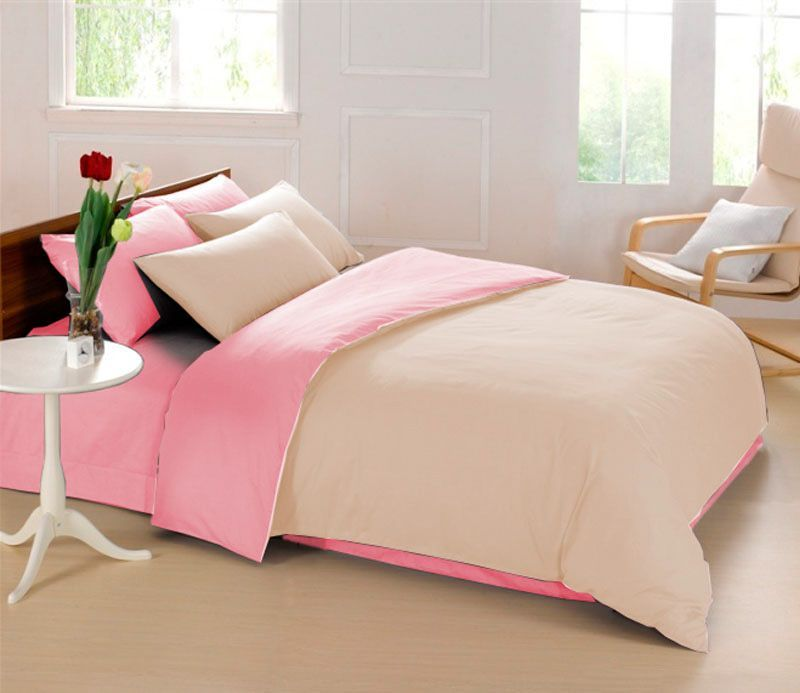 Комплект белья Sleep iX Perfection, 1,5-спальный, наволочки 50х70, 70х70, цвет: бежевый, розовый. pva215336 комплект белья sleep ix perfection семейный наволочки 50х70 70х70 цвет оранжевый темно коричневый