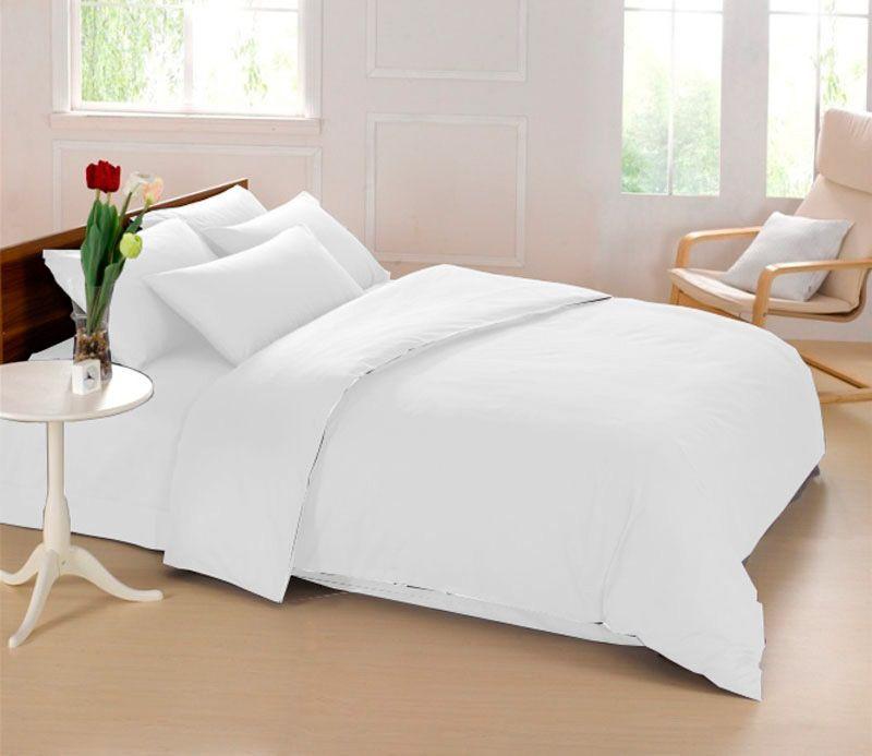 Комплект белья Sleep iX Perfection, 2-спальный, наволочки 70х70, цвет: белый комплект белья sleep ix perfection семейный наволочки 50х70 70х70 цвет оранжевый темно коричневый