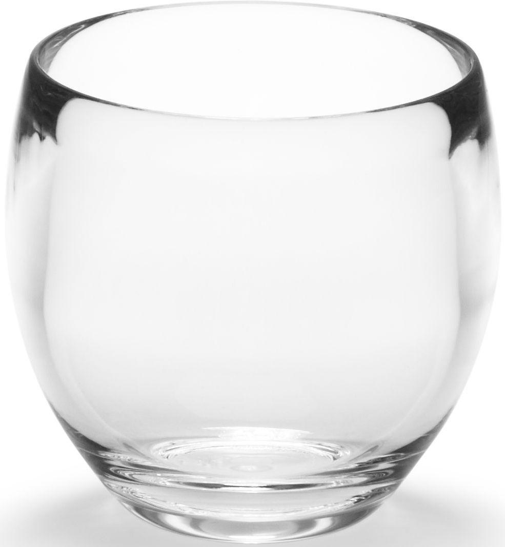 цена на Стакан для ванной Umbra Droplet, цвет: прозрачный, 10 х 14 х 9 см
