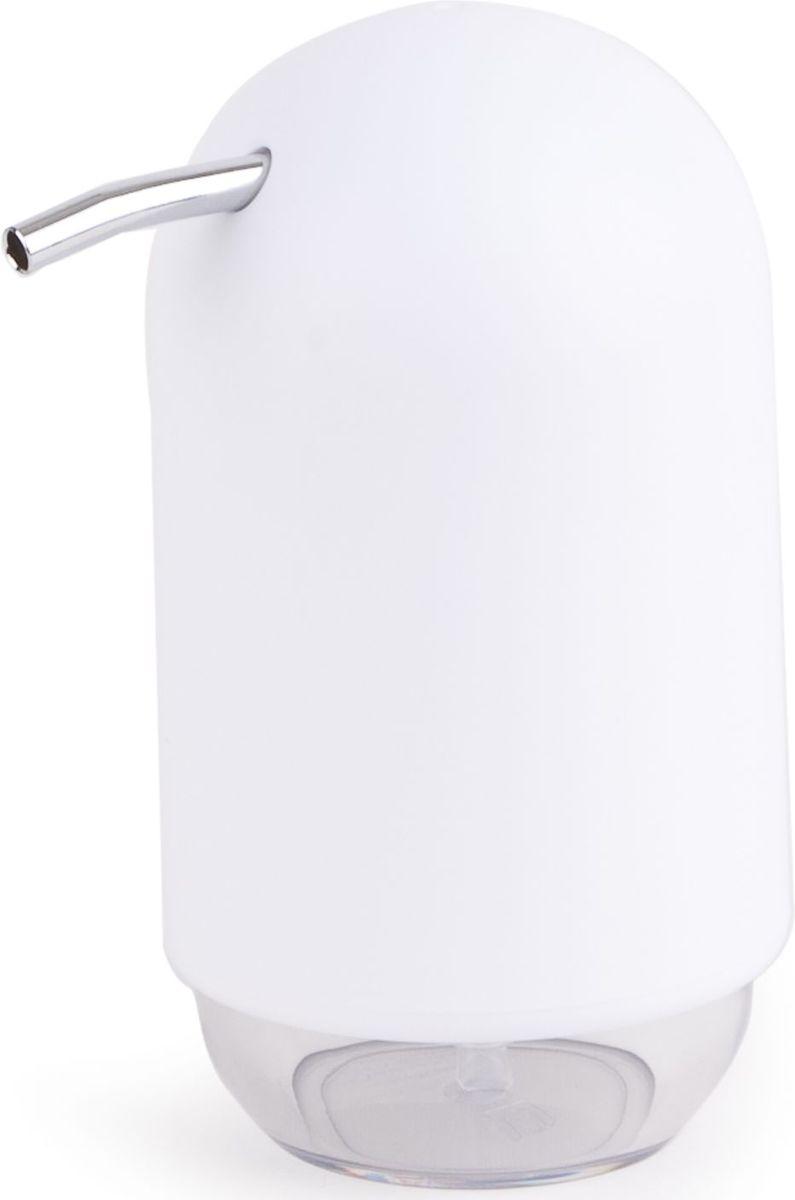 "Диспенсер для мыла Umbra ""Touch"", цвет: белый, 14 х 9 х 7 см"
