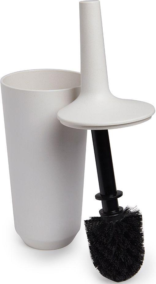 Ершик для унитаза Umbra Fiboo, цвет: экрю, 39,8 х 11,8 х 11,8 см корзина для мусора fiboo umbra