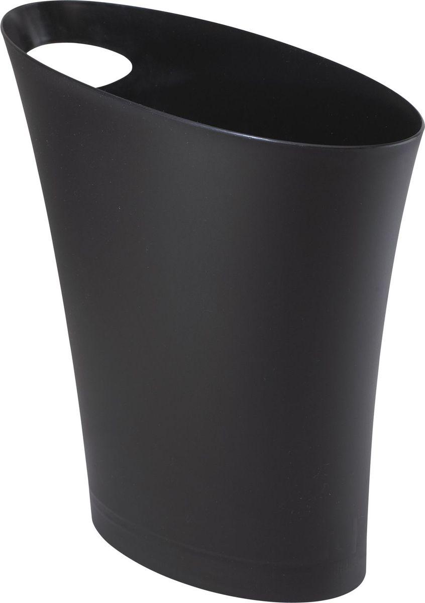 "Контейнер мусорный Umbra ""Skinny"", цвет: черный, 34 х 33 х 17 см"