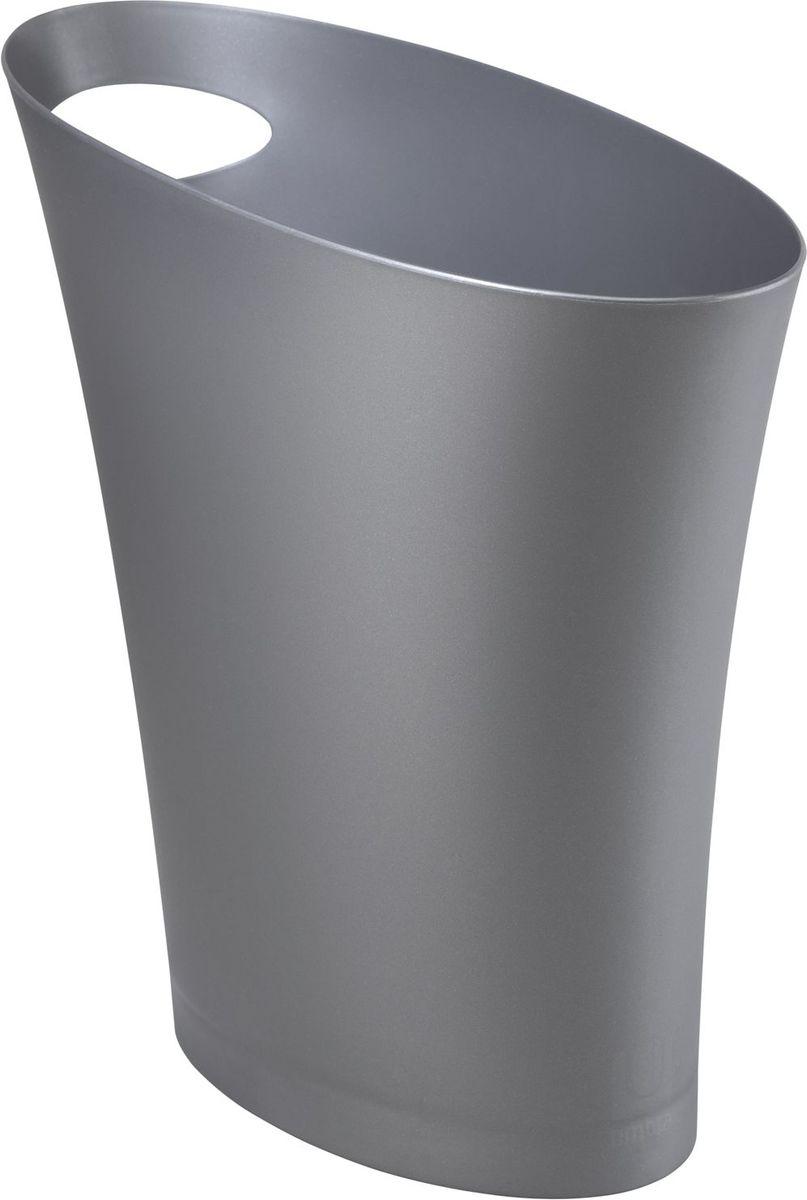 "Контейнер мусорный Umbra ""Skinny"", цвет: серебристый, 34 х 33 х 17 см"