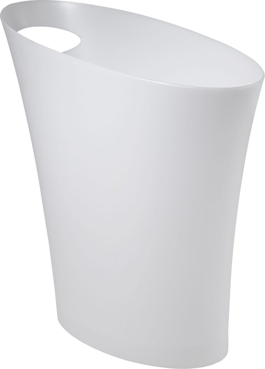"Контейнер мусорный Umbra ""Skinny"", цвет: металлик, 34 х 33 х 17 см"