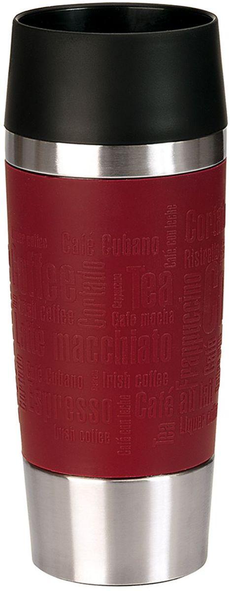 Термокружка Emsa Travel Mug, цвет: красный, 360 мл термокружка emsa travel mug 360 мл сталь пластик красный