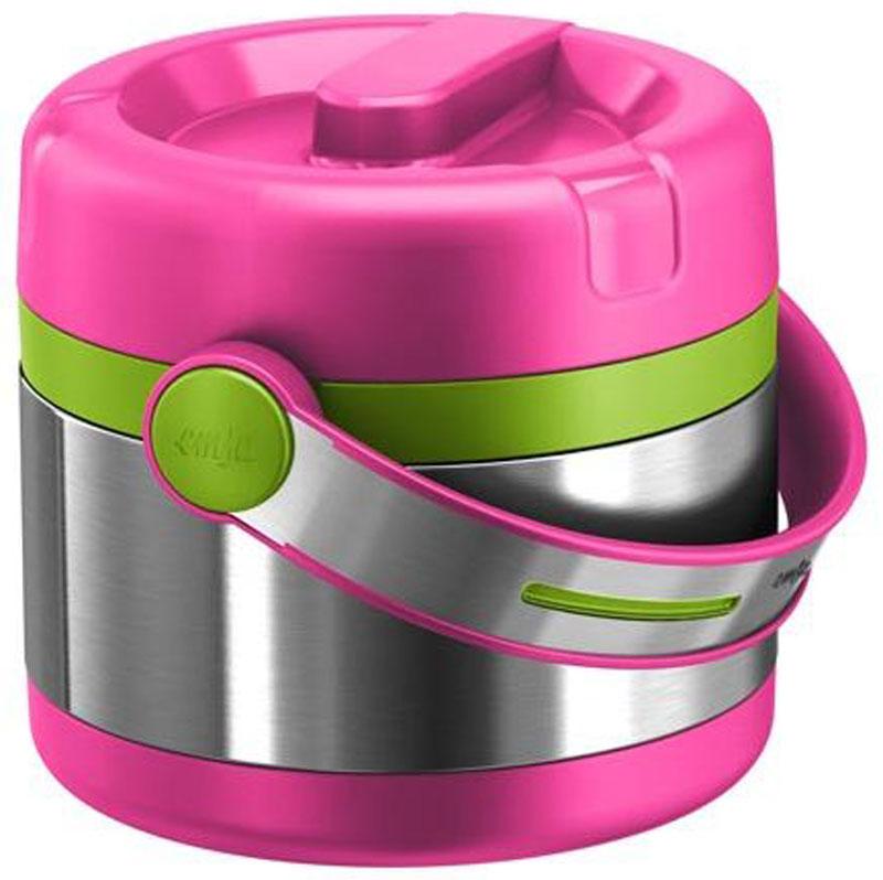 Термос пищевой Emsa Mobility Kids, цвет: розовый, зеленый, 650 мл контейнер пищевой elff decor цвет зеленый 800 мл