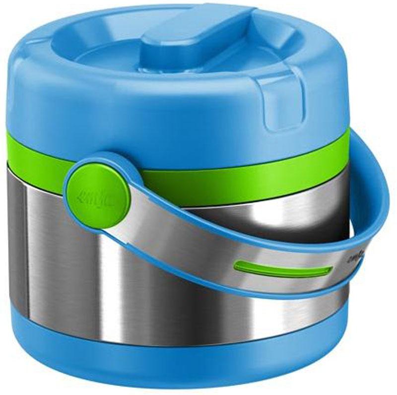 Термос пищевой Emsa Mobility Kids, цвет: голубой, зеленый, 650 мл контейнер пищевой elff decor цвет зеленый 800 мл
