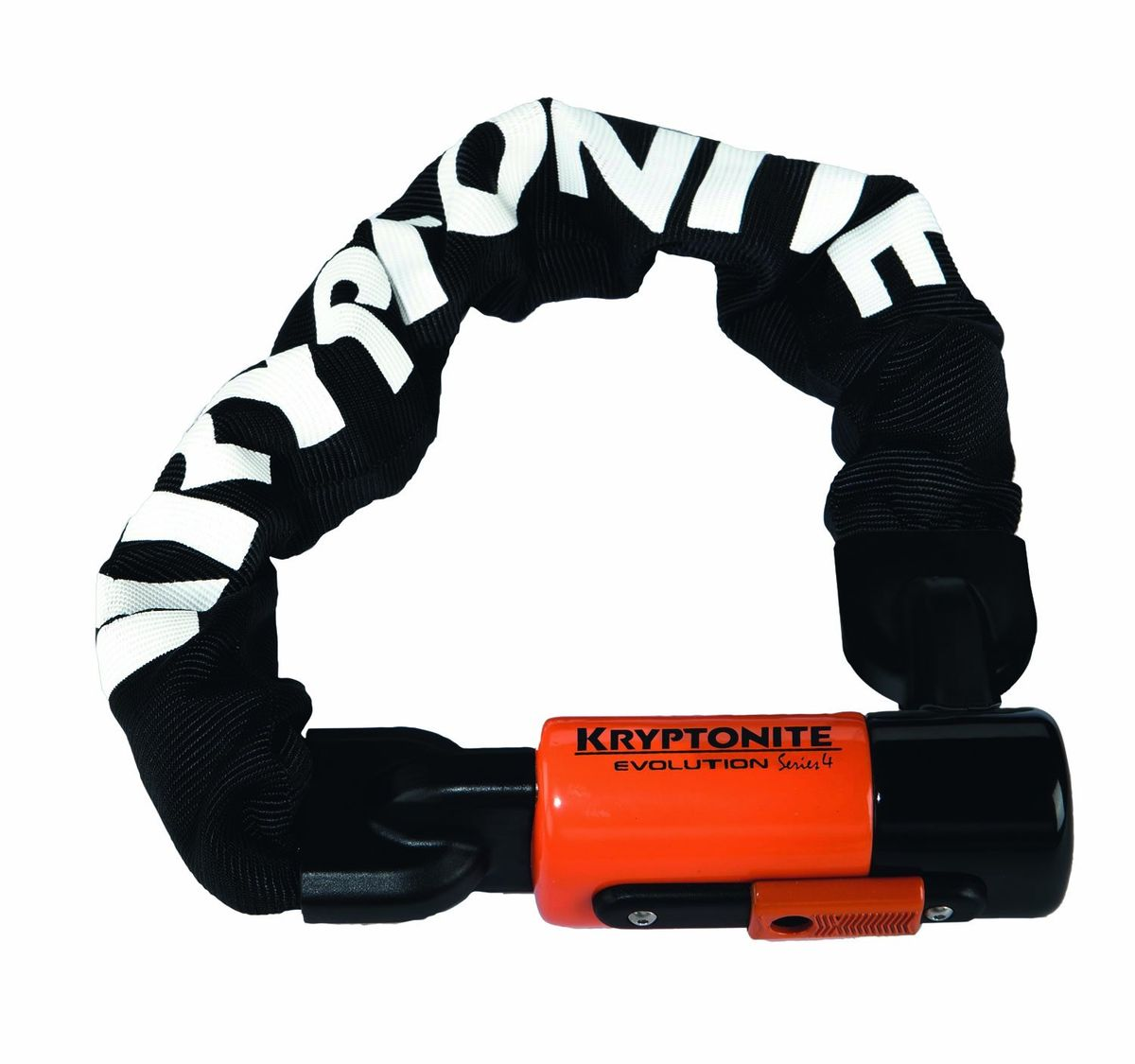 "Замок велосипедный Kryptonite ""Chains Evolution Series 4 1090 Integrated Chain"", цвет: черный, 10 мм x 90 см"