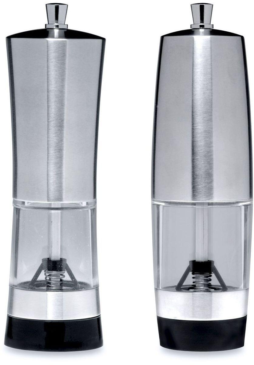 Набор мельниц для соли и перца BergHOFF Geminis, 16 х 5 см, 2 предмета солонка и мельница для перца nouvelle de france розовая гортензия 5 х 5 х 14 5 см 2 предмета