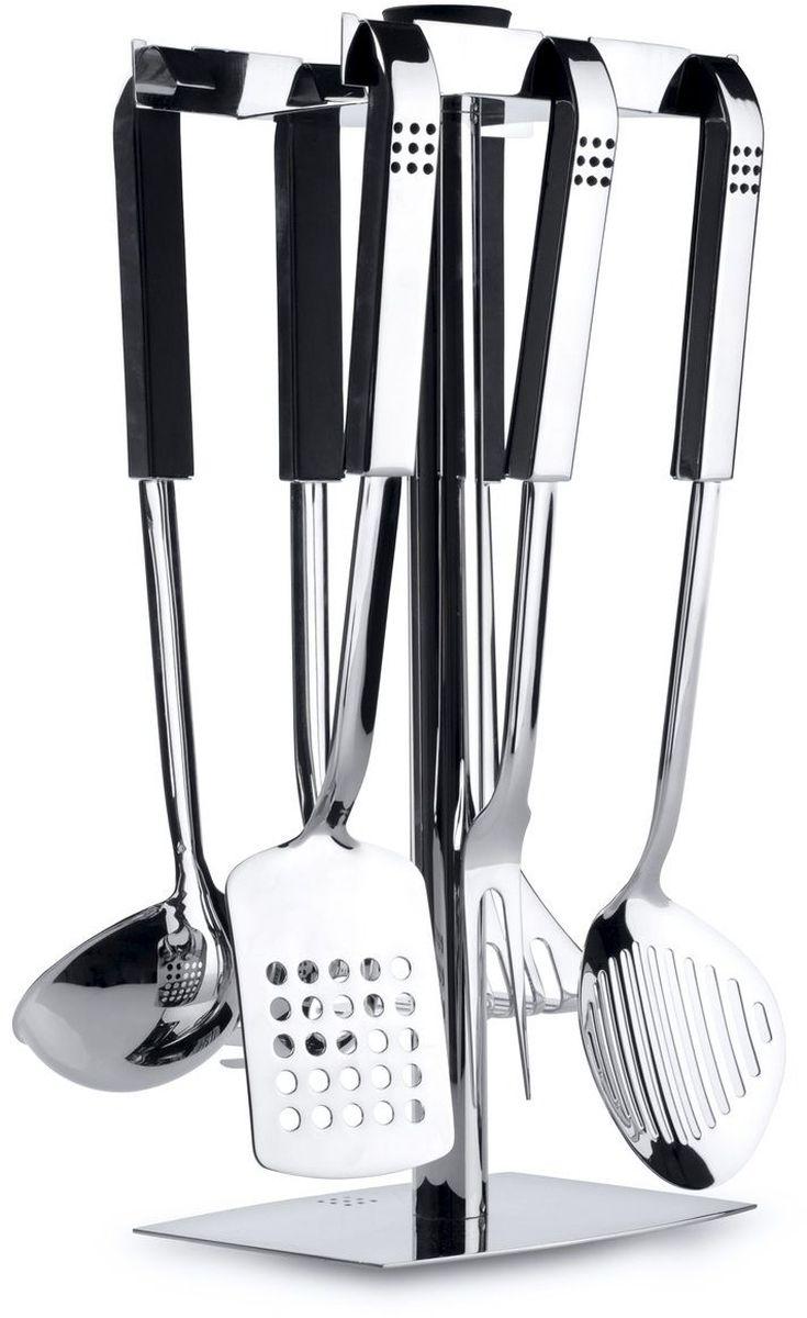 Набор кухонных принадлежностей BergHOFF Orion, 7 предметов1110936Кухонный гарнитур Berghoff на подставке отлично подойдет для вашей кухни или бара. набор выполнен из нержавеющей стали. Он очень удобен и прост в использовании. В набор входят: Половник для супа (длина 32,5 см); Пресс для картофеля (длина 32,5 см); Ложка для спагетти (длина 33 см); Вилка для мяса (длина 34,5 см); Лопатка (длина 36 см); Шумовка (длина 37 см); Подставка (размер: 18 х 39 см).