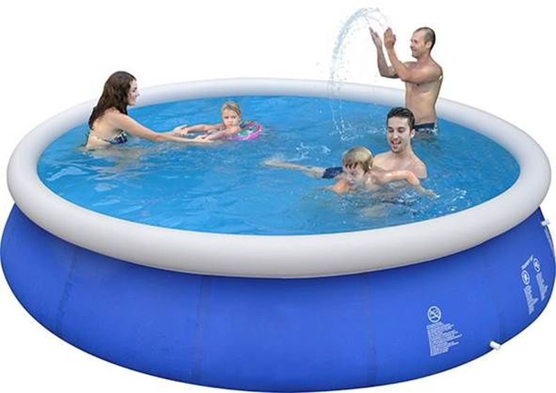 Бассейн надувной Jilong Prompt, цвет: синий, 420 х 84 см бассейны jilong round stell frame pools 360х76 см с фильтр насосом
