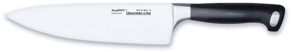 Нож поварской BergHOFF Gourmet, длина лезвия 23 см нож berghoff essentials поварской длина лезвия 20 см