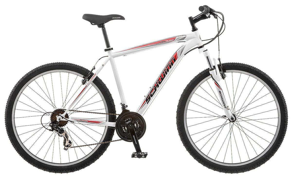 Велосипед горный Schwinn High Timber Men, колесо 27,5, рама 18, цвет: белый, красный, 21 скорость