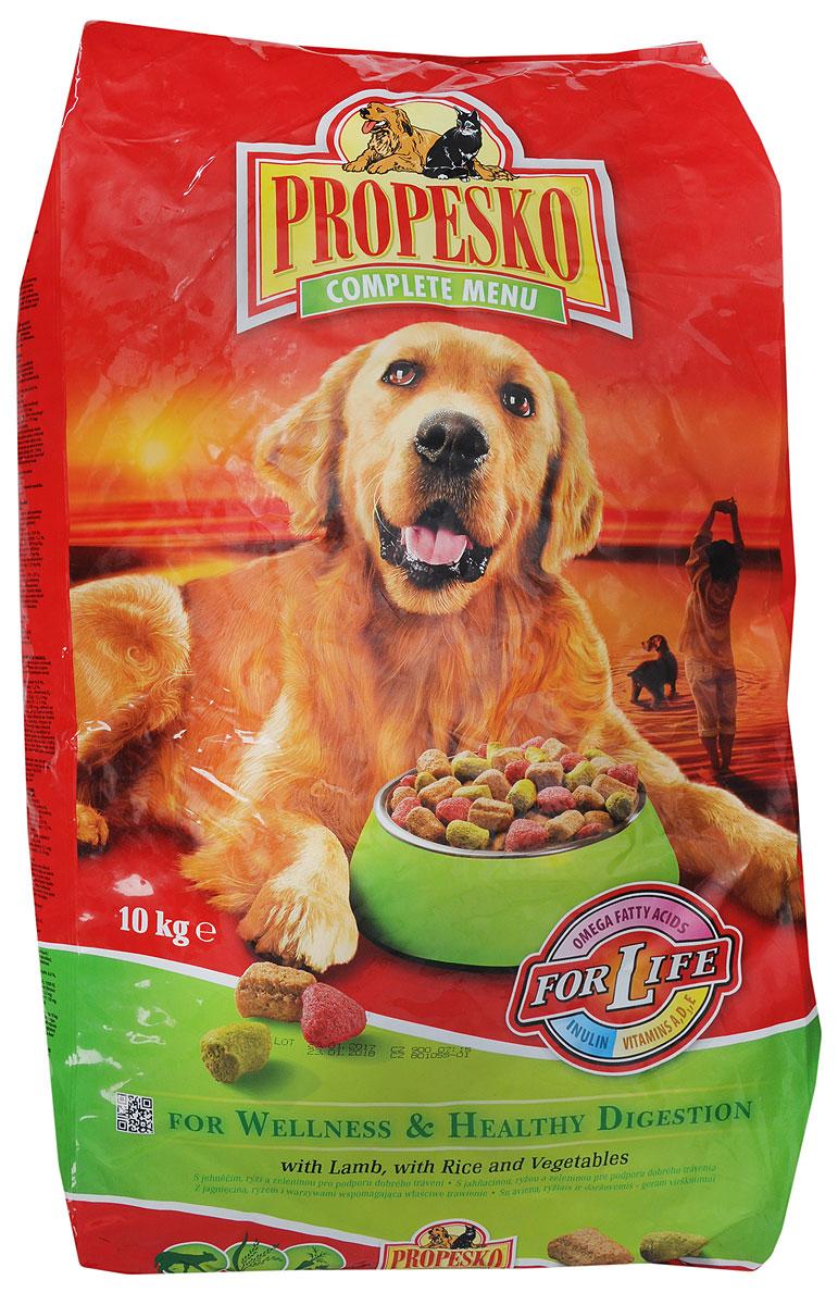 """Корм сухой """"Propesko"""" для собак, с ягненком, рисом и овощами, 10 кг"""