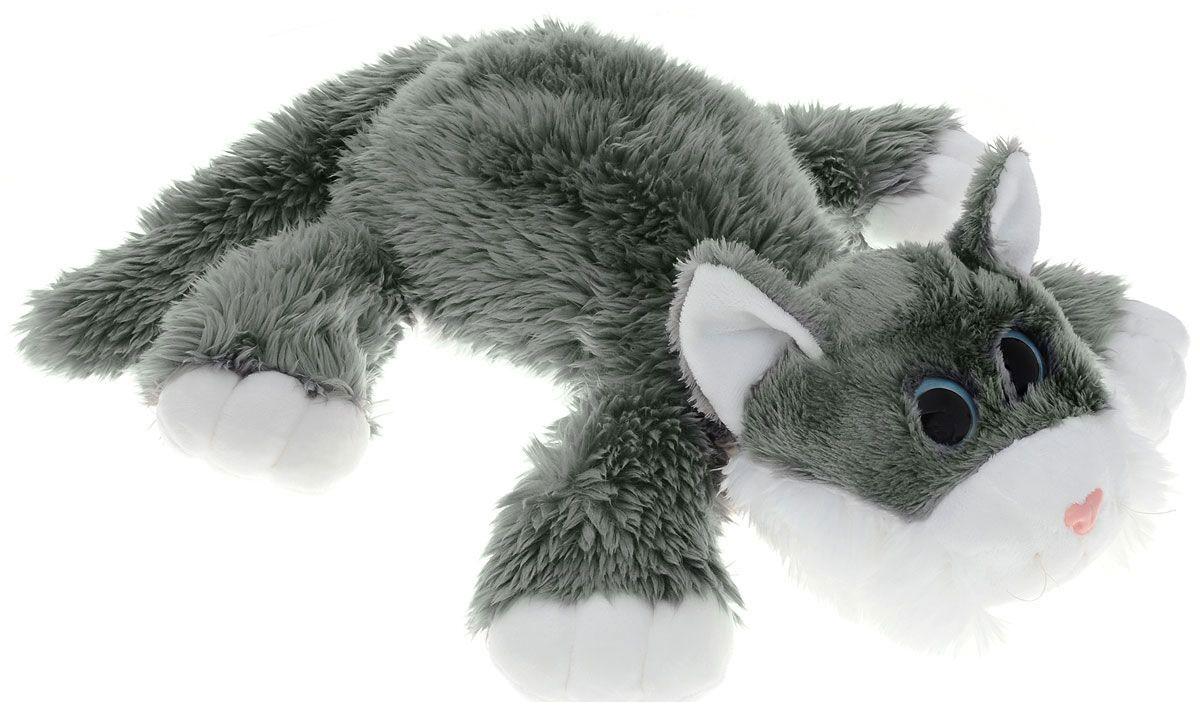 Мягкая озвученная игрушка Gulliver Котик Шалунишка, цвет: серый, 30 см мягкие игрушки gulliver коровка муму 20 см