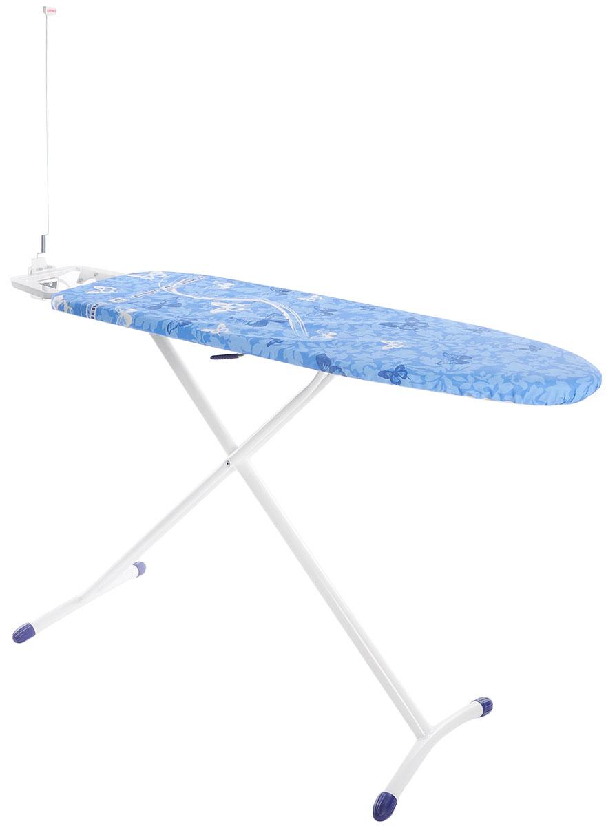 """Доска гладильная Leifheit """"Airboard Premium M Plus"""", с электроподключением, цвет: синий, белый, голубой, 120 х 38 см"""