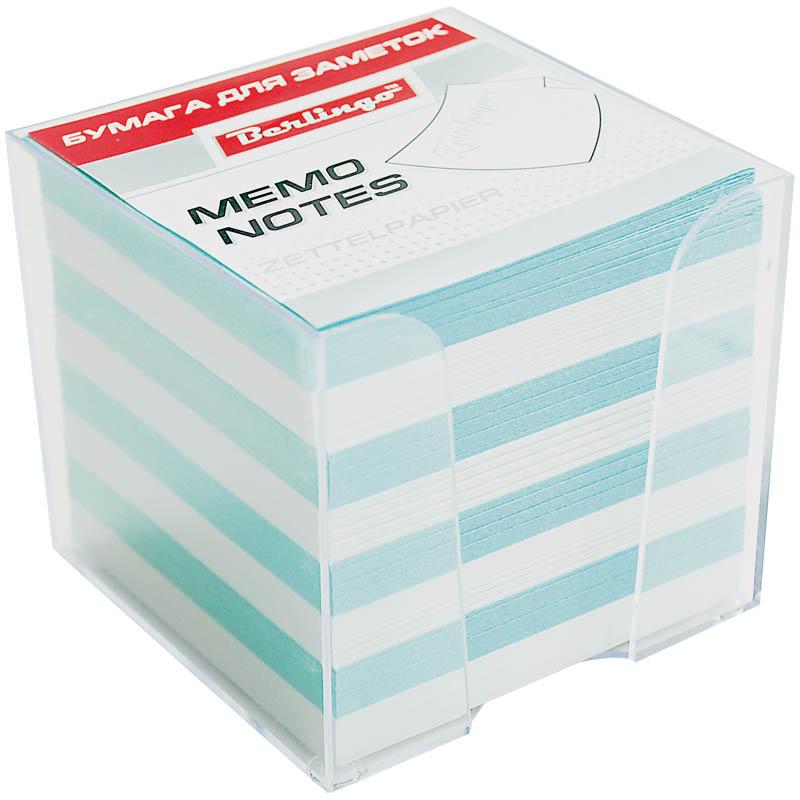 Berlingo Бумага для заметок Standard 9 х 9 х 9 см в пластиковой подставке цвет белый голубой 1000 листов berlingo бумага для заметок с липким краем neon 7 6 х 5 1 см цвет зеленый 100 листов