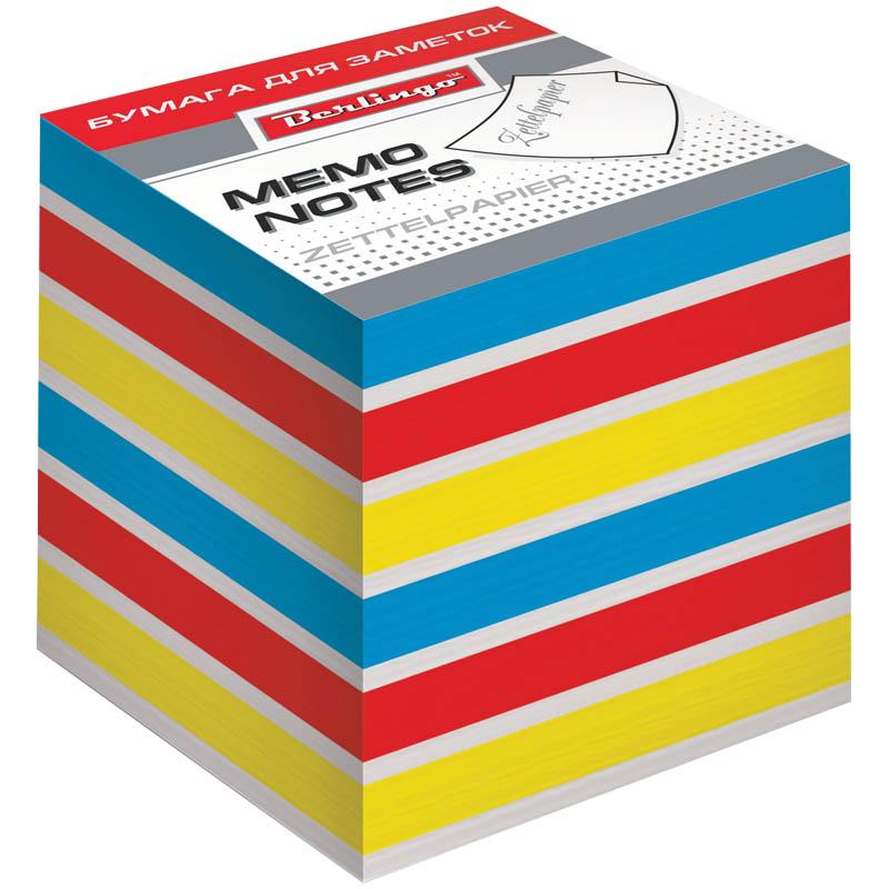 все цены на Berlingo Бумага для заметок Rainbow 8 х 8 х 8 см 800 листов онлайн