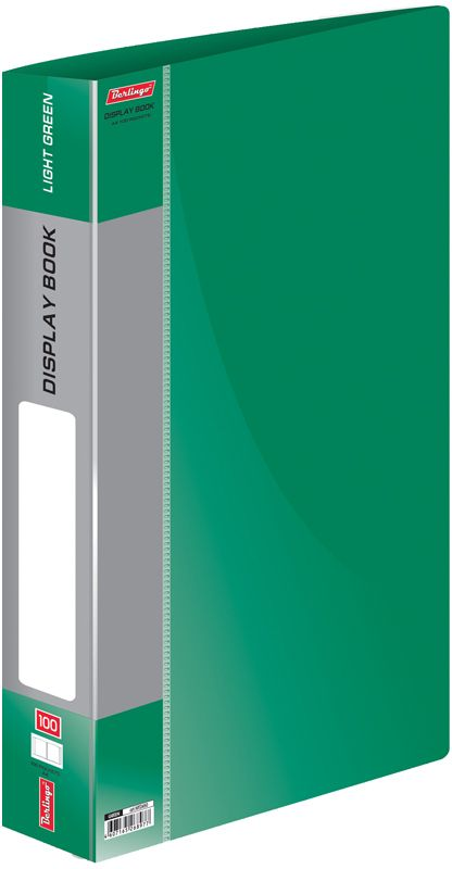 Berlingo Папка Standard со 100 вкладышами цвет зеленый berlingo папка standard с 80 вкладышами цвет зеленый