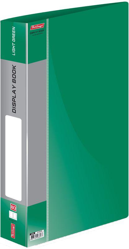 Berlingo Папка Standard с 80 вкладышами цвет зеленый berlingo папка standard с 80 вкладышами цвет зеленый