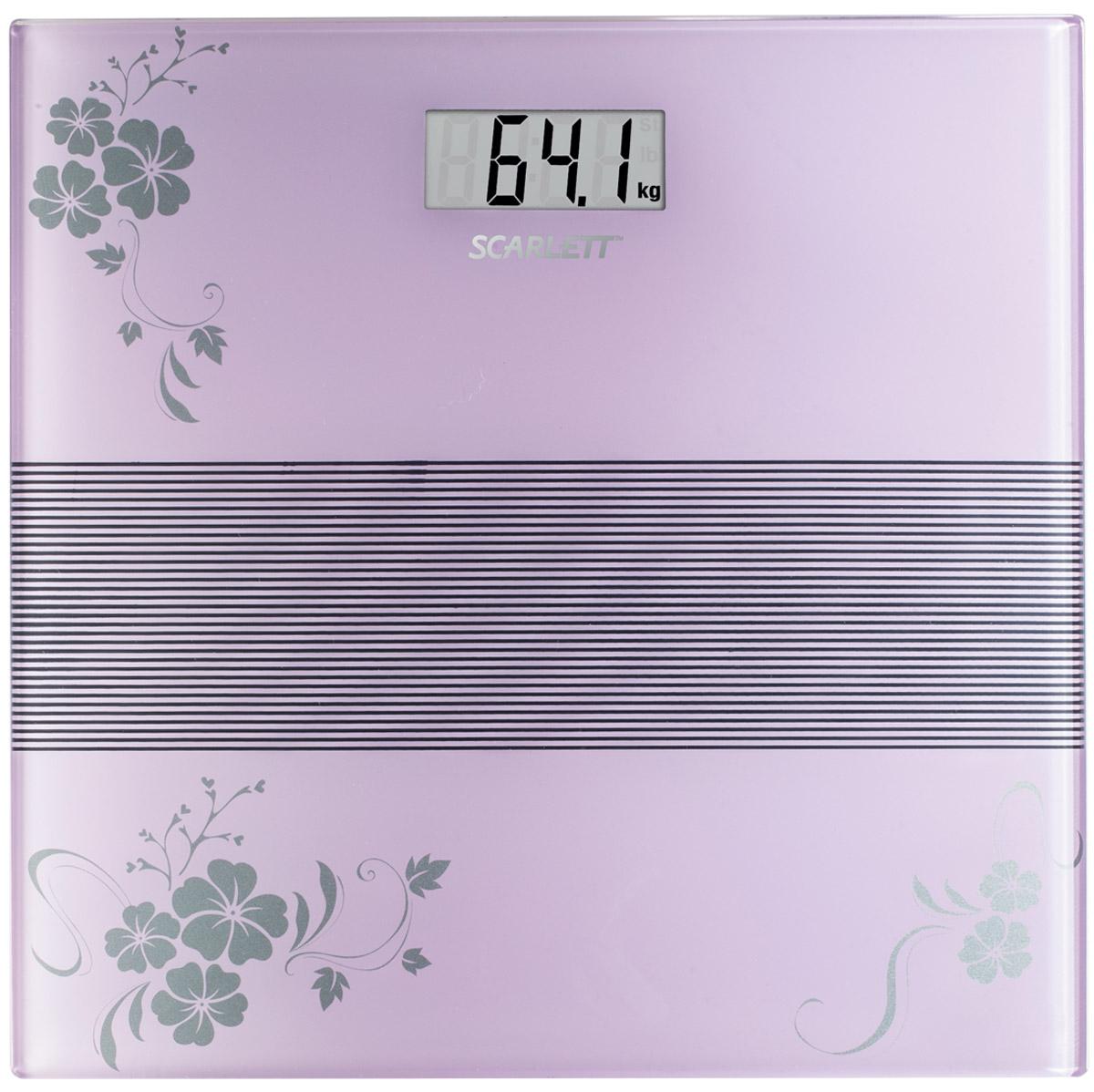 Напольные весы Scarlett SC-BS33E060, Violet весы scarlett sc bs33e064