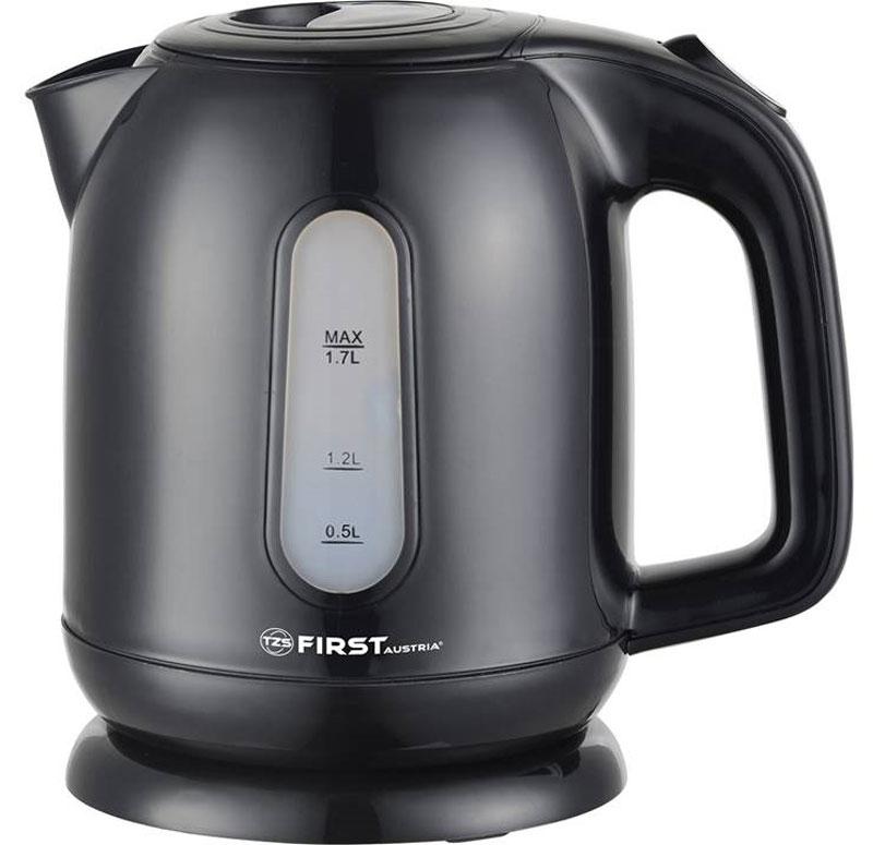 Электрический чайник First FA-5427-5 Black чайник электрический first fa 5427 7 white green