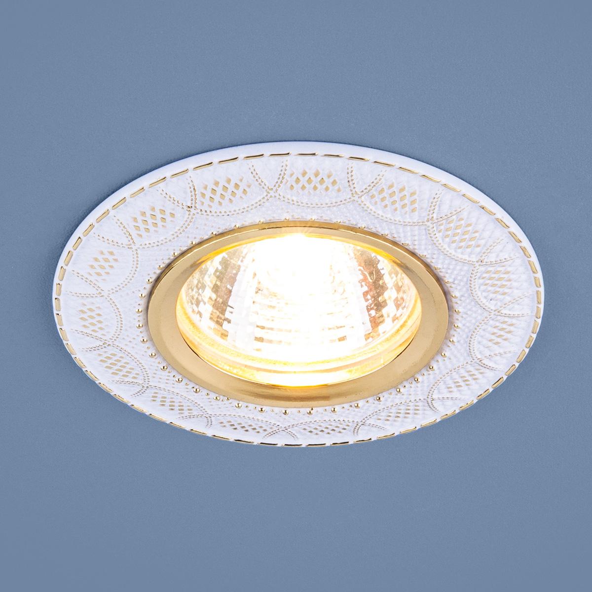 Встраиваемый светильник Elektrostandard, G5.3, 50 Вт встраиваемый светильник elektrostandard 7002 mr16 wh gd белый золото 4690389082528
