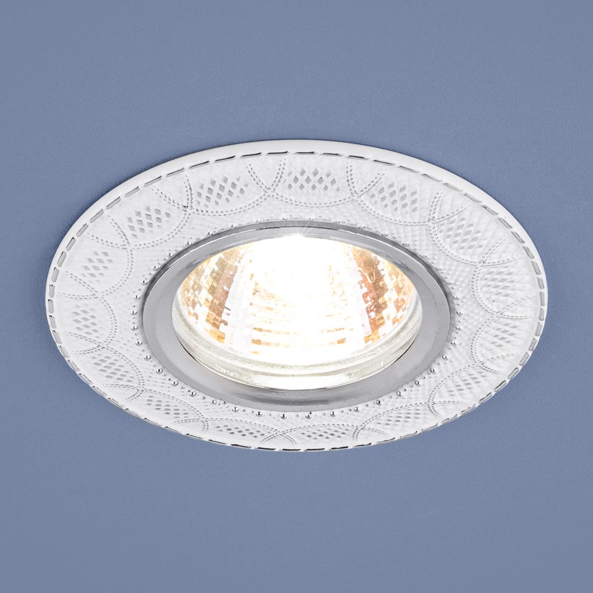 Встраиваемый светильник Elektrostandard 7010 MR16 WH/SL белый/серебро 4690389099267