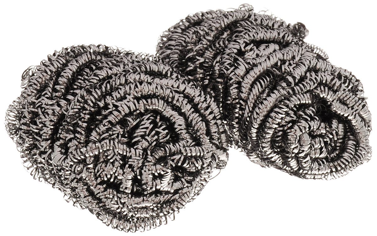 Фото - Губка для мытья посуды Home Queen Спираль, металлическая, 2 шт набор переводных наклеек для яиц home queen пасха 6 шт