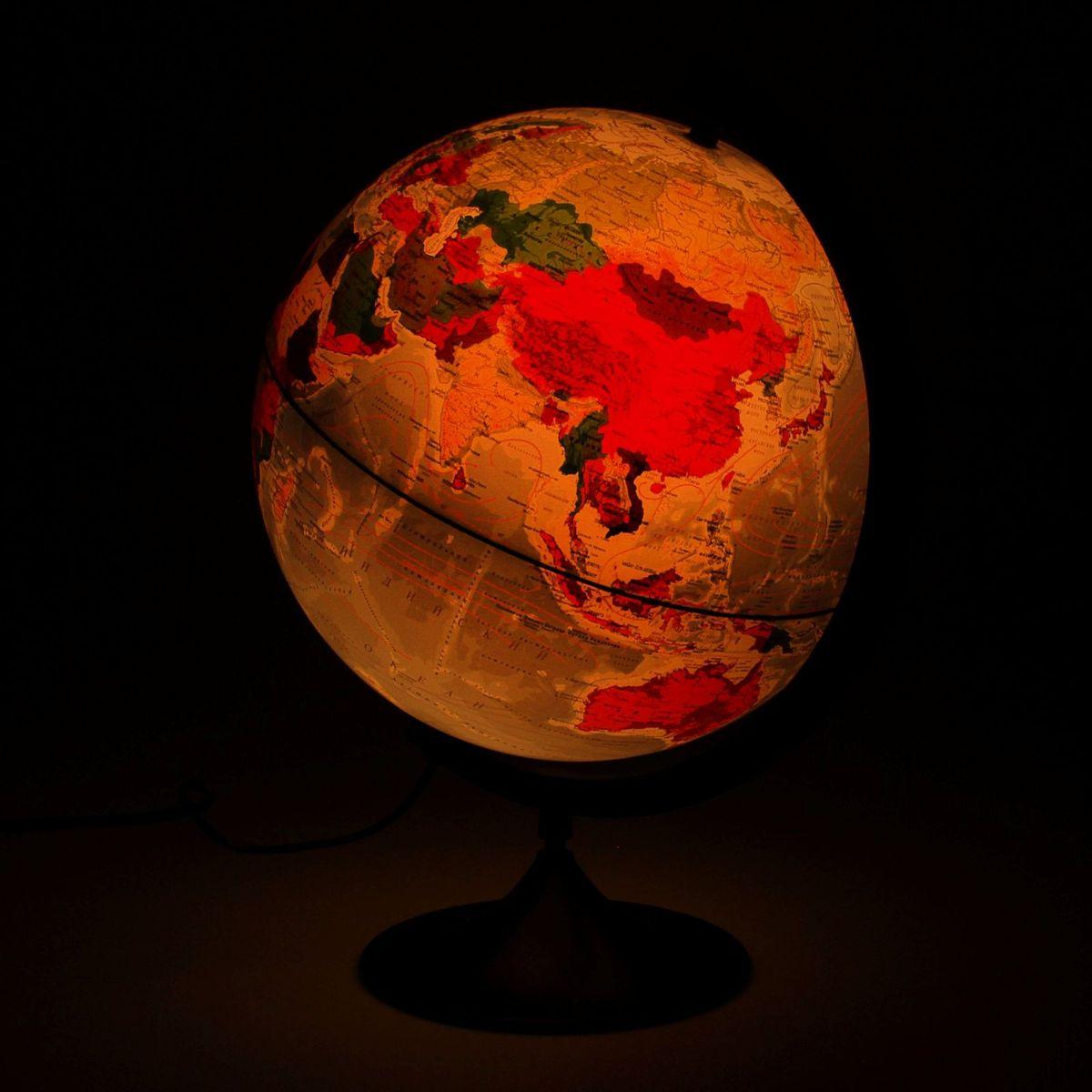 Глобен Глобус физико-политический Классик с подсветкой диаметр 32 см Globen