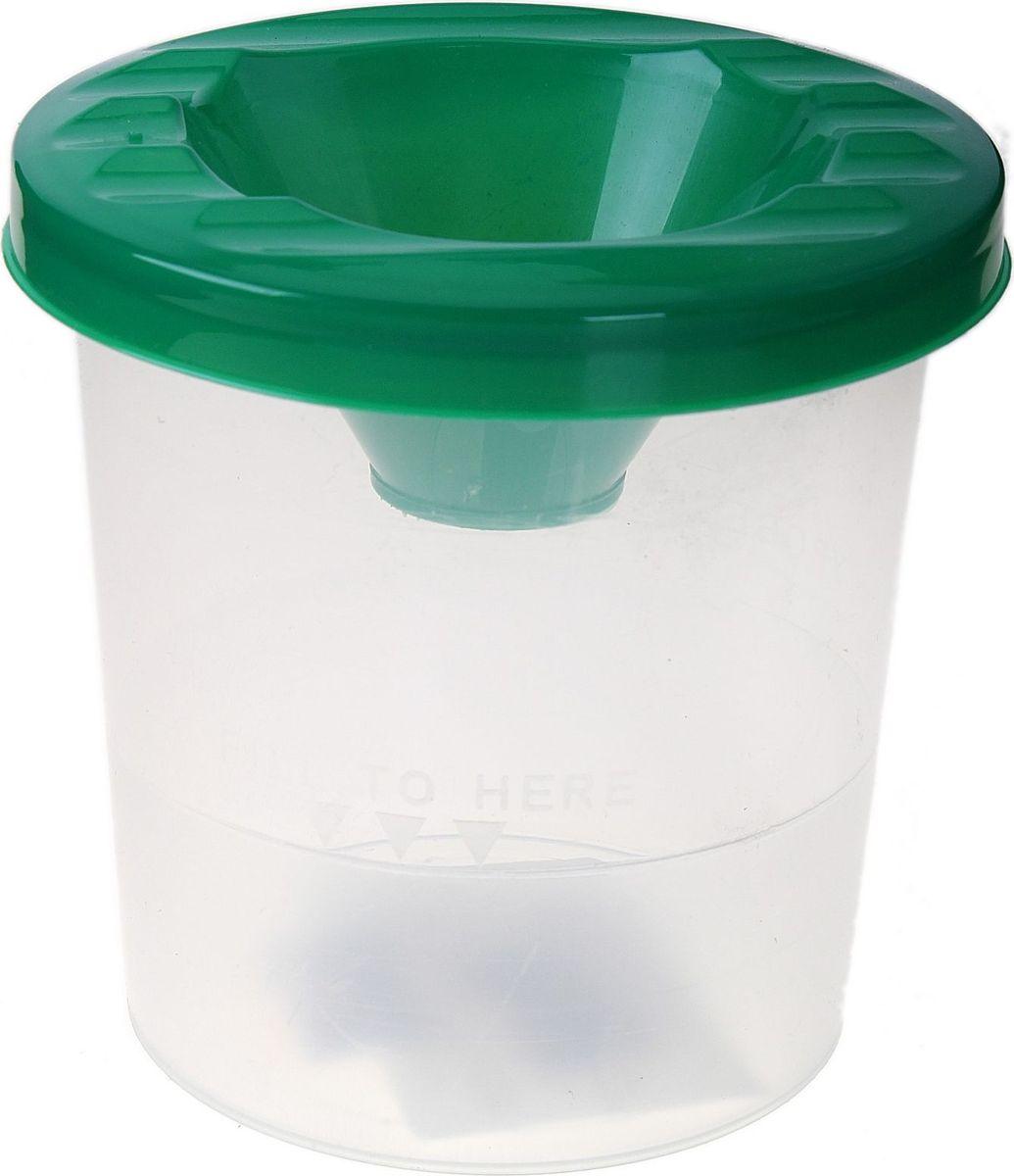 Стамм Стакан-непроливайка цвет зеленый 210 мл луч стакан непроливайка для рисования цвет оранжевый