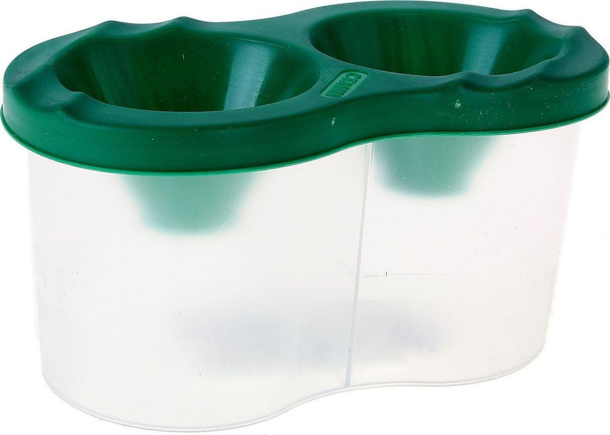 Стамм Стакан-непроливайка двойной цвет зеленый луч стакан непроливайка для рисования цвет оранжевый