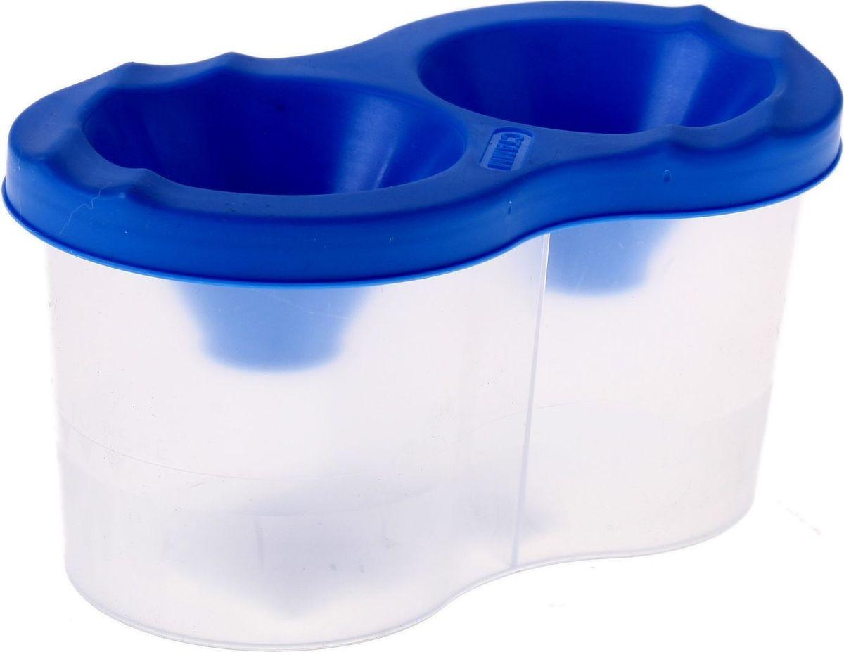 Стамм Стакан-непроливайка двойной цвет синий луч стакан непроливайка для рисования цвет оранжевый
